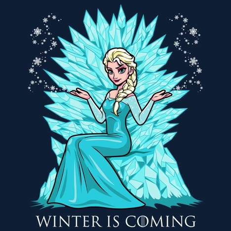 Fantasy Disney Mashups - This Frozen Game of Thrones Mashup Freezes the Iron Throne