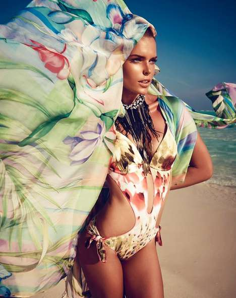 Vibrantly Patterned Swimwear