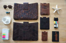 Recycled Fabric Pouches - TRMTAB Uses Recycled Material to Make Leather Pouches for Tech Devices