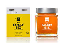Familial Honey Branding - The Honey Beez Packaging is Based Around the Idea of a Family Biz