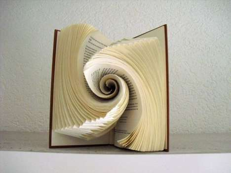 Vortex Book Art - This Book Sculpture Was Made with Absolutely No Photoshopping