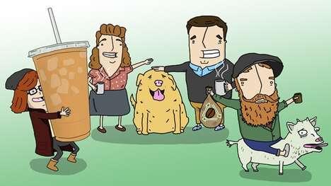 Comical Coffee Illustrations