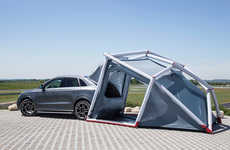Inflatable Auto Campers - The Audi Q3 Camping Tent Makes Camping on the Go a Breeze