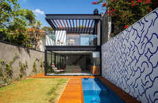 Leisurely Brazilian Havens - This Compact Cozy Home is Eclectic and Sleek