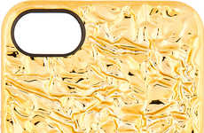 Crinkled Gold Tech Accessories - This Marc by Marc Jacobs iPhone Case Makes a Bold Style Statement