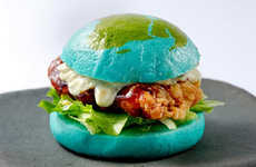 Tasty Planetary Burgers - Orbi Yokohama Cafe's Blue Burger is Like an Edible Version of Earth