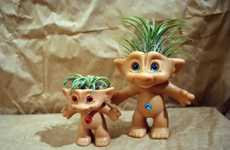 Retro Toy Planters - Treasure Troll Air Plant Pots is a Childhood Remix