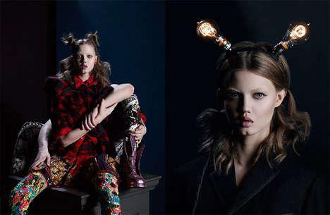 Eccentric Intertwined Fashion Editorials