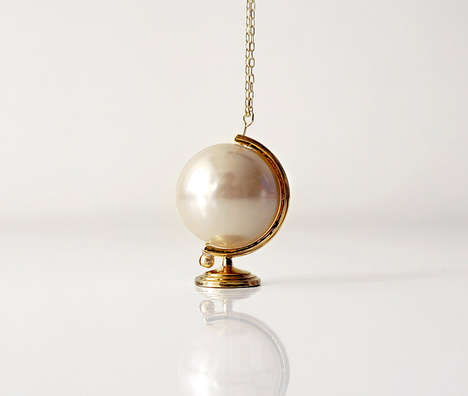 Symbolic Pearl Necklaces - These Pearl Necklaces Show That the World is Your Oyster
