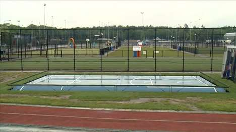 Solar Panel Sports Pitches - The Cablean Sportveld is a Multi-Surface Field in the Netherlands
