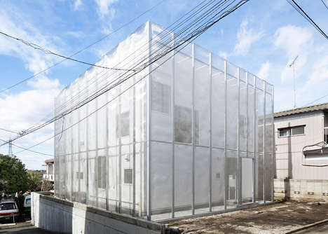 Mesh Material-Lined Abodes