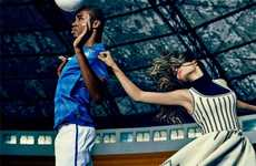 Stylish Soccer Editorials - Fabio Bartelt Stars in the Harper's Bazaar Brazil Issue