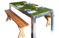 Grassy Picnic Tables - This Grass Picnic Table Brings the Picnic Right to You