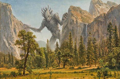 Pop Culture Monster Paintings