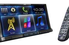 Smartphone Dash Displays - The KW-V50BT Display Receiver Integrates Your Smartphone With Your Car