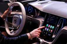 Smartphone Driving Displays - The CarPlay System Lets You Use Your iPhone Wirelessly While You Drive