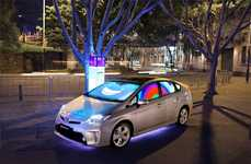 Emotive Car Installations - The Toyota Prius 'Cars That Feel' Respond to Human Interaction