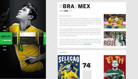 Stylized Soccer Websites