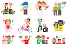 LGBT-Friendly Emoticons - LGBT-Themed Facebook Pride Stickers Have Been Unveiled by the Social Site