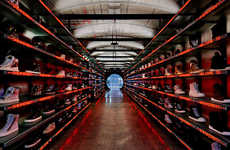 Tunneled Sneaker Stores - The Sneakerboy Store is an Underground Passage to the Future