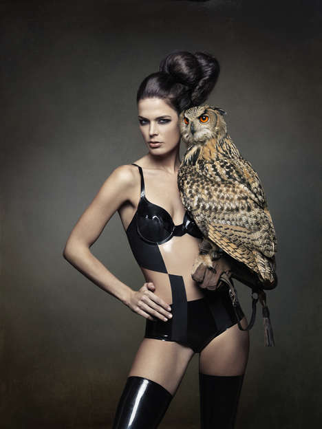 Avian-infused Lingerie Editorials