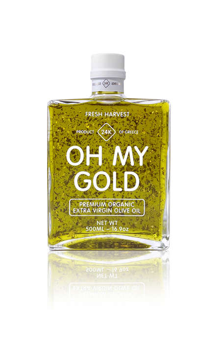 Gold-Infused Oil Packaging - Oh My Gold Olive Oil Branding Takes Inspiration from Gold Bars