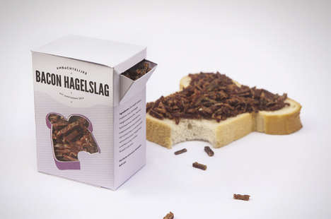 Novelty Bacon Sprinkles - The Bacon Hagelslag are Crunchy Bacon Bit Toppings for Meals
