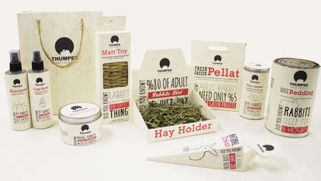 Nature-Embracing Pet Packaging - Thumper Rabbit Supplies by Hoda Pedramrazi is Clean and Youthful
