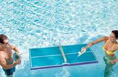 Floating Table Tennis - This Pool Ping Pong Table Gives an Alternate Meaning to 'Paddling Pool'