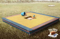 Impossible Small Playground Ads - The Bimbo Ana Maria Cakes Campaign Promotes More Filling