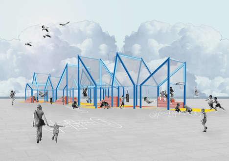 Blue Framed Pavilions
