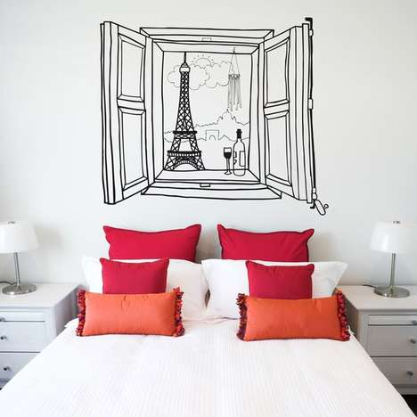 This Paris Window Wall Decal is the Perfect Romantic Touch for One's Decor
