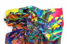 Psychedelic Scarf Accessories - Jonathan Zawada's Tru$t Fun! Collection Displays Digitized Prints