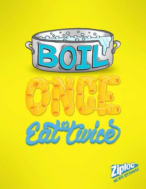 Typographic Leftover Ads