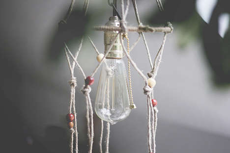 DIY Hanging Hemp Lighting