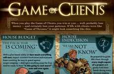 Ad Account Archetypes - This Game of Thrones Themed Infographic Depicts Design Agency Clients