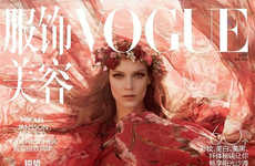 Enchanting Nymph Covers - The Vogue China Photoshoot Stars Model Kati Nescher