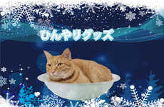 Cooling Cat Bowls - In the Heat, the Cooling Aluminium Kitty-Cat Pot Keeps Kitties Cool