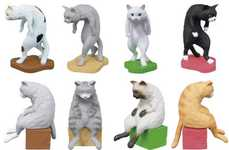 Hunchback Cat Toys - This Bandai Cat Figurine Collection is Meant to Inspire Better Posture at Work