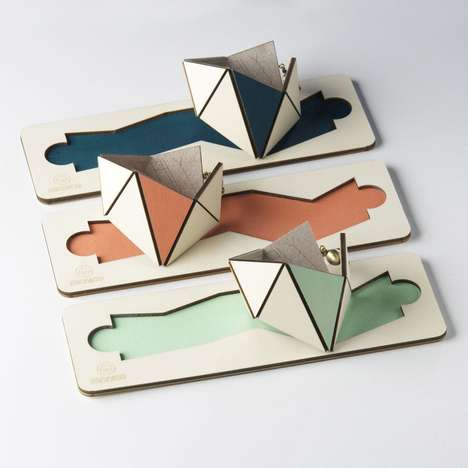 Laser-Cut Geometry Accessories - Mr.Nico's Facets Jewelry Collection is Origami-Inspired