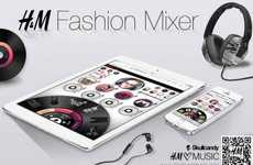 Music Playing Product Catalogs - H & M's Digital Catalog Lets Fashionable Music Lovers Remix Tracks