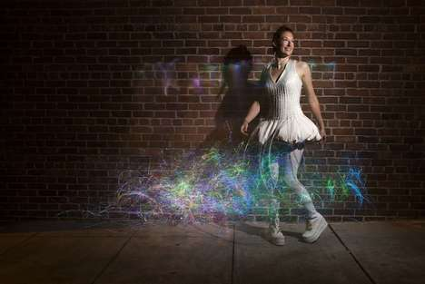 Rainbow Fiber Optic Dresses