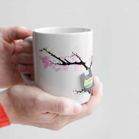 Tree-Transforming Mugs - This Heat Sensitive Cherry Blossom Mug Changes Depending on Temperature