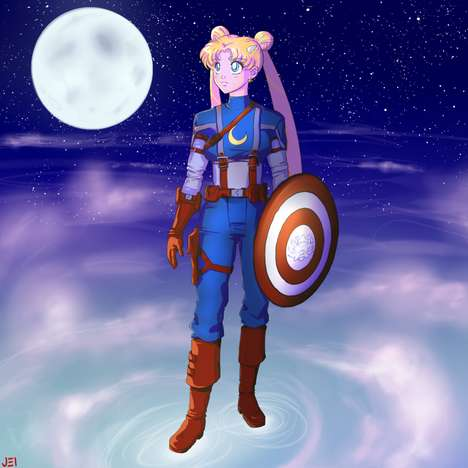 Jei-Shepard Creates Sailor Moon X Avengers