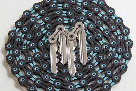 Minimalist Bicycle Keychains