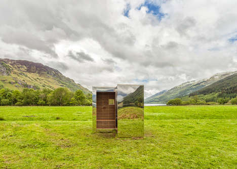 Mirrored Cuboid Cabins