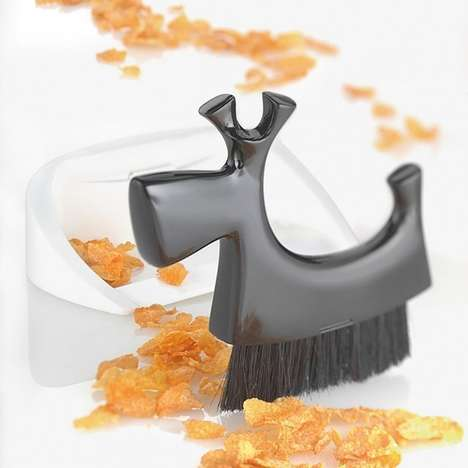 Small Sleek Sweepers - This Dog Doppelgänger Dust Pan Design Includes a Pretty Puzzling Piece