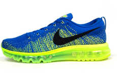 Technicolor Knitted Sneakers - The Nike Flyknit Air Max are Comfortable and Lightweight