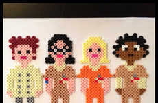 Pixelated Criminal Magnets - These Orange is the New Black Magnets Look Like 8-Bit Characters