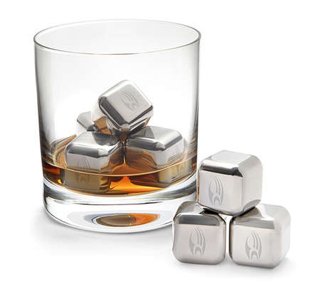 Sci-Fi Steel Ice Cubes